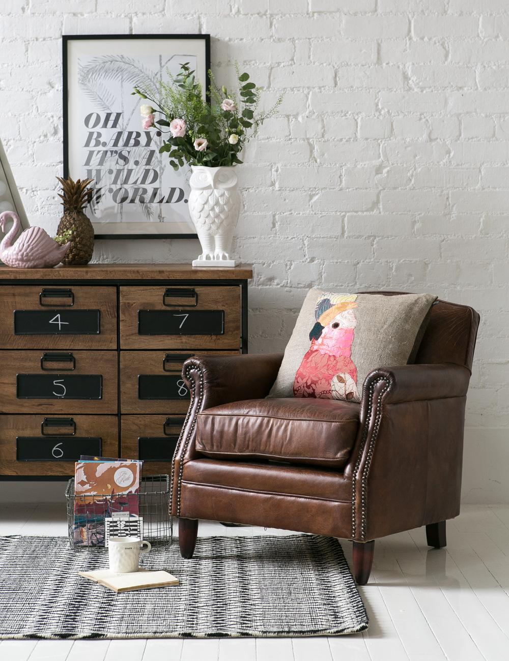 Vintage Leather Brooklyn Armchair
