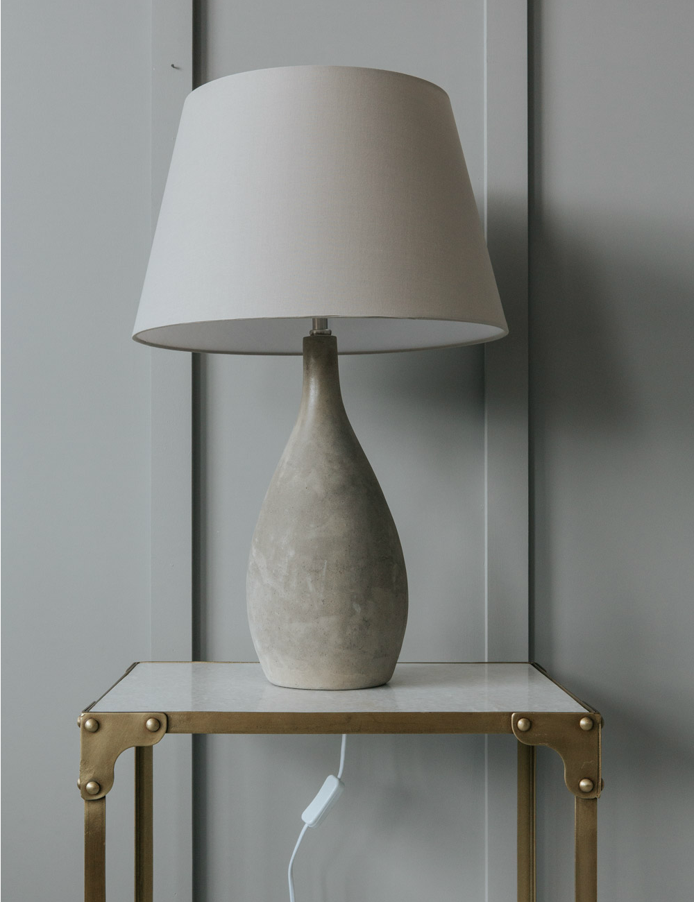 Concrete Table Lamp At Rose Amp Grey