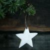 White Marble Star - Set of 2