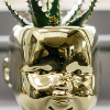 Gold Dolls Head Vase