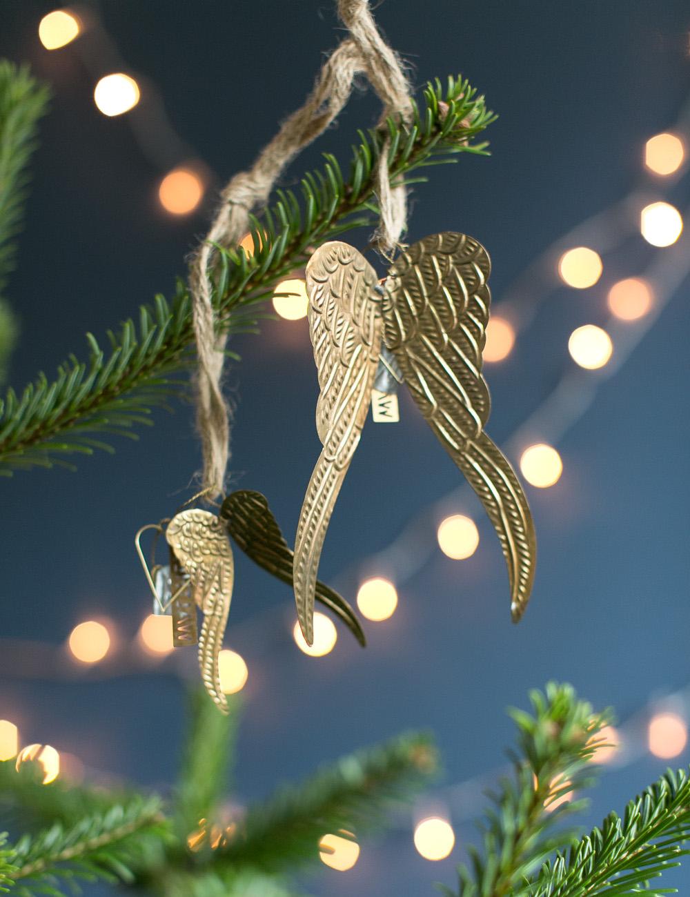 Brass Angel Wings  Large