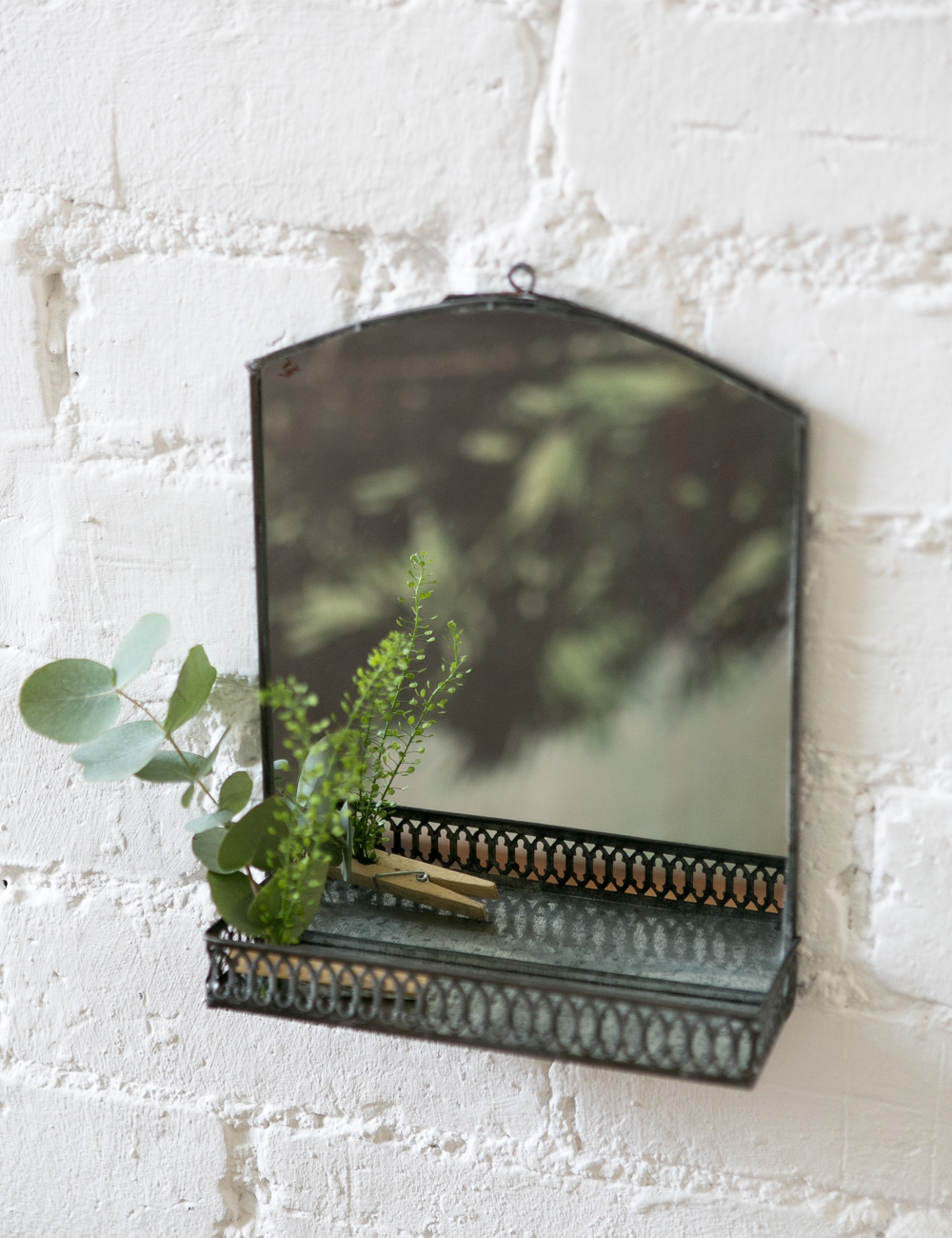 Zinc Shelf Mirror