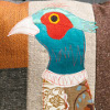 Pheasant Applique Cushion