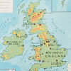 Map of the British Isles Wall Chart