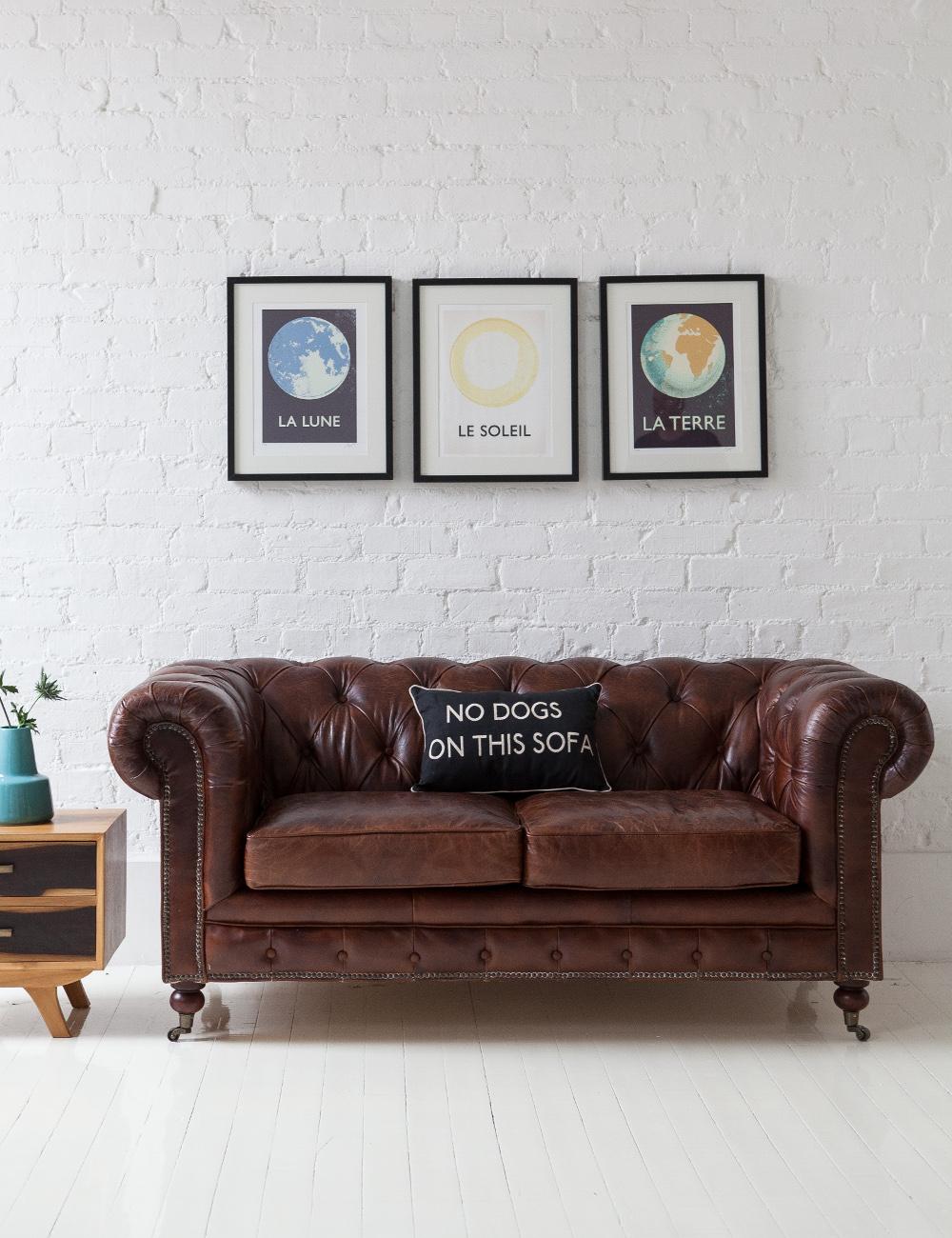 vintage leather chesterfield at rose grey vintage. Black Bedroom Furniture Sets. Home Design Ideas