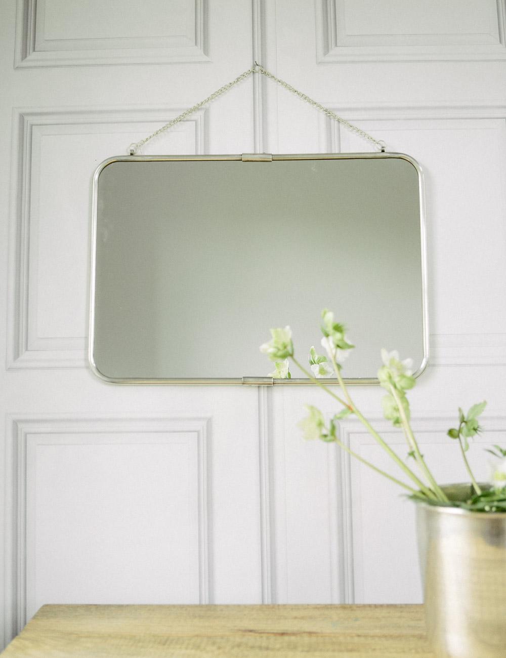 Antique Silver Wall Mirror