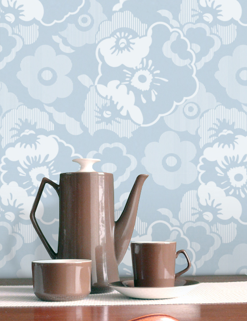Go Ask Alice Wallpaper  Powder Blue