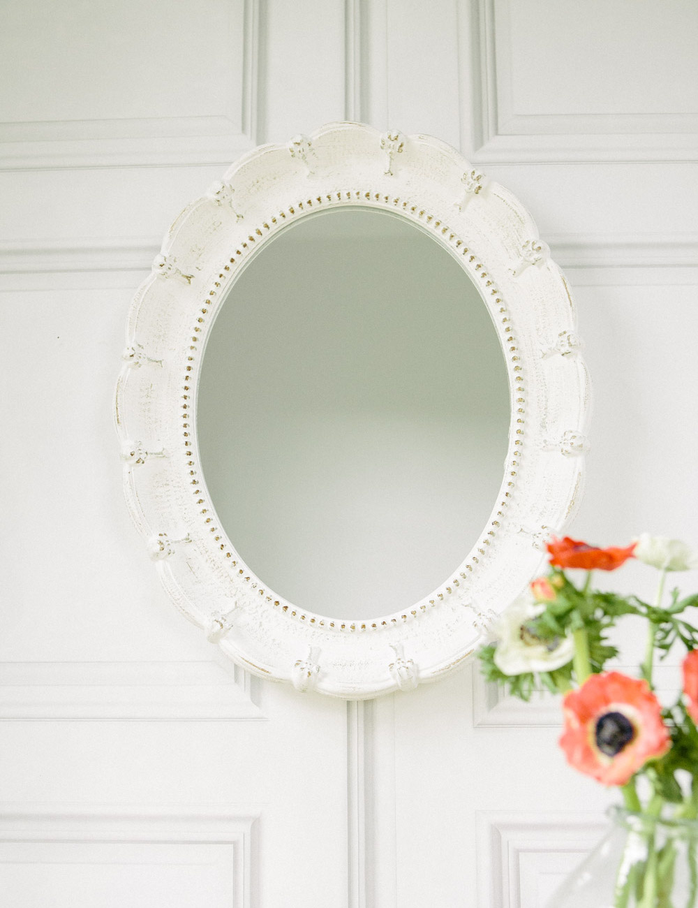 Oval antique mirror shop for cheap products and save online for Cheap white mirror