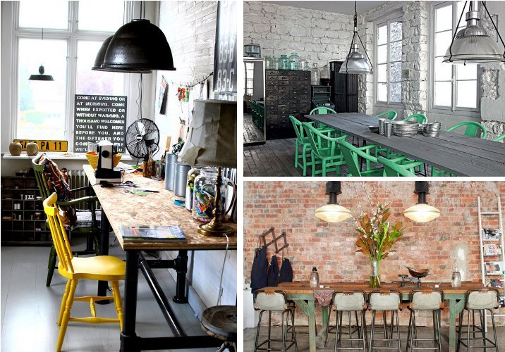 Marble kitchen table - Industrial Chic Industrial Furniture