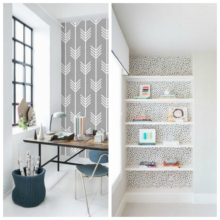 Five ways to create a feature wall rose and grey for Feature wall wallpaper