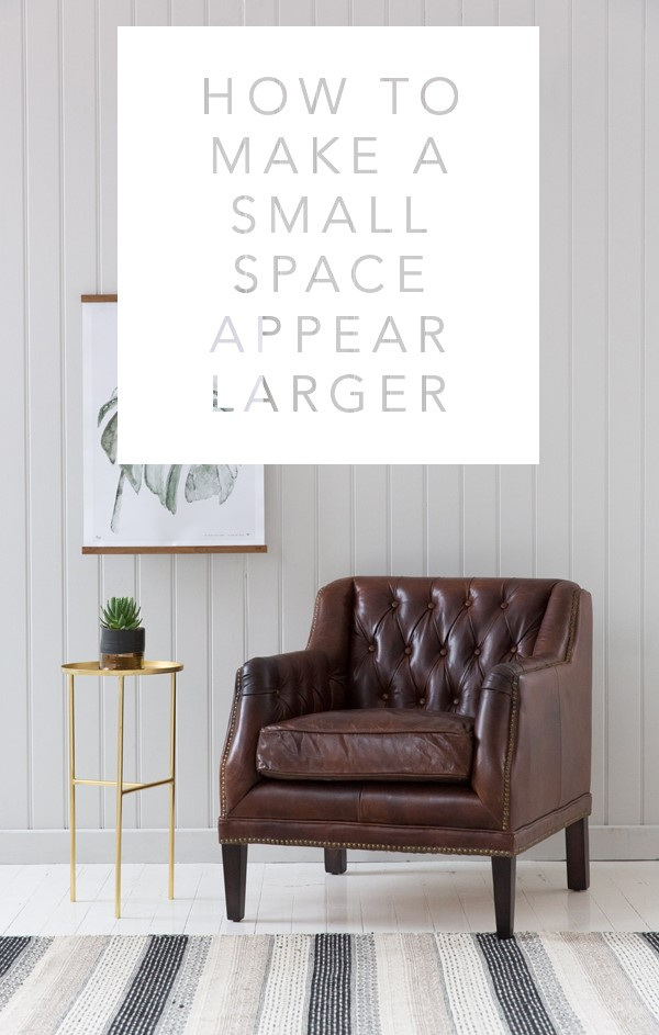 How to make a small space appear larger rose and grey - How to make a small space look bigger ...