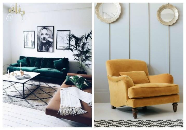 velvet trend interior design
