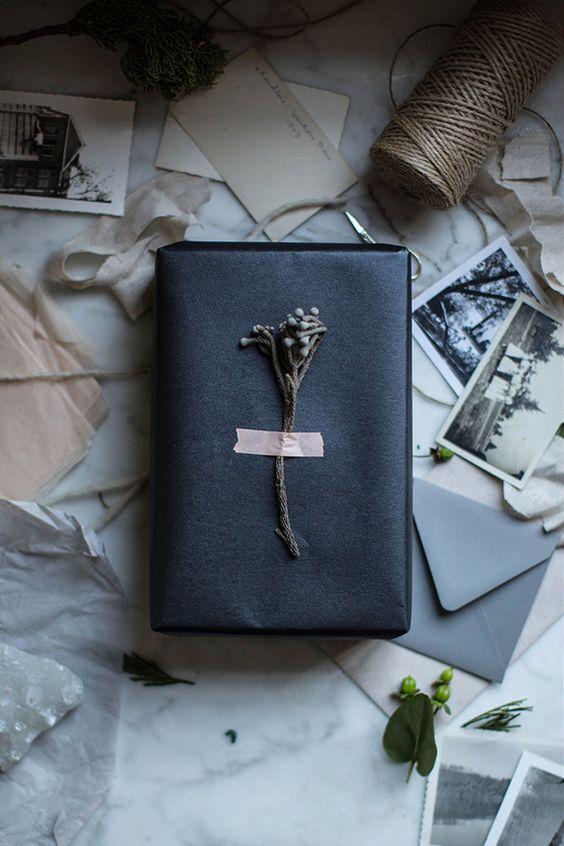 Stylish gift wrapping
