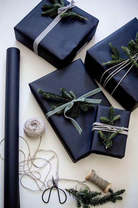 christmas presents stylishly wrapped up