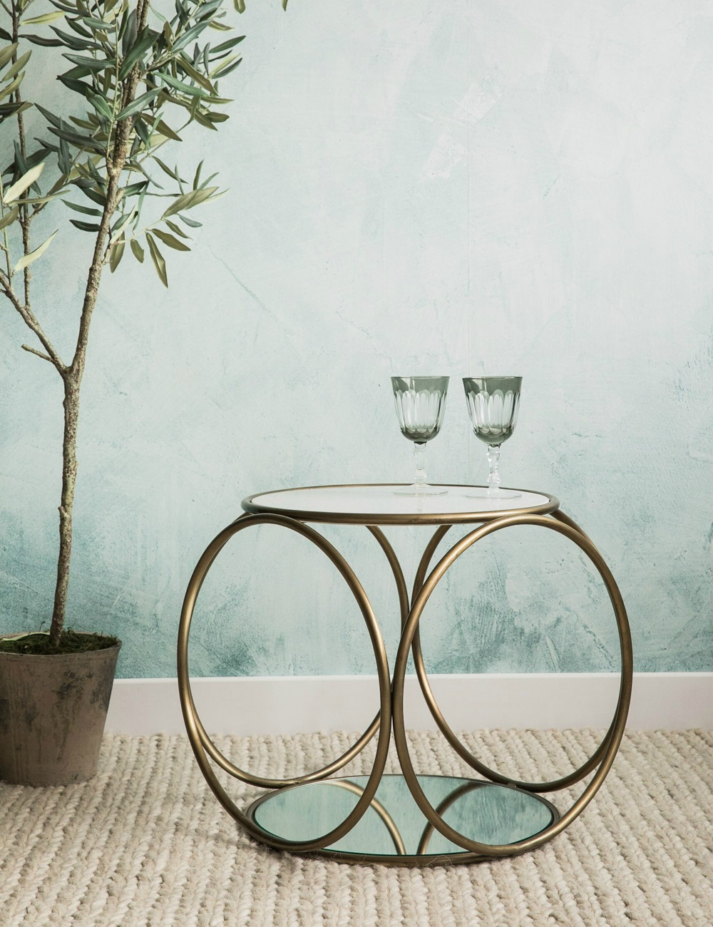 Bella Decorative Marble & Brass Coffee Table