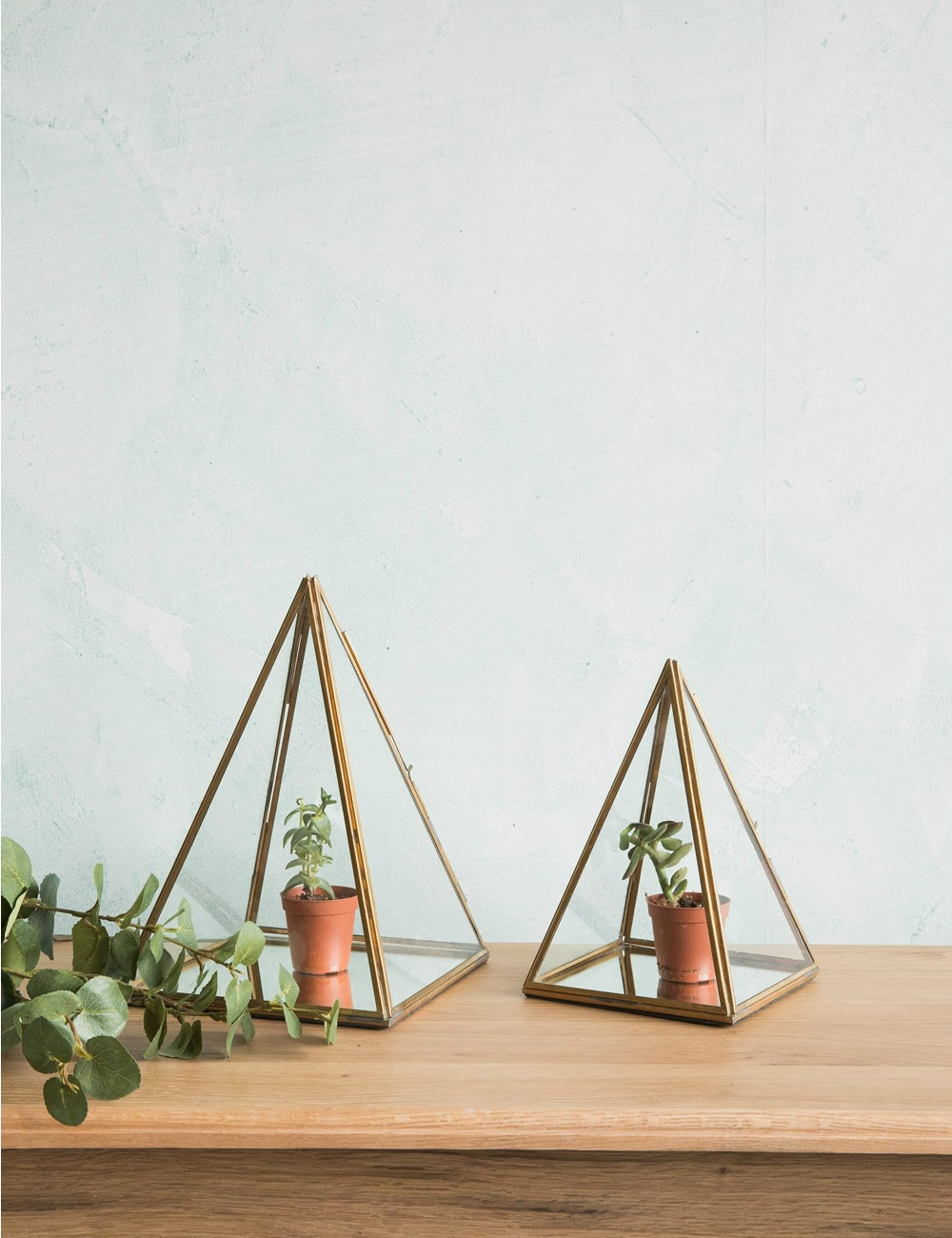 Brass & Glass Display Pyramid