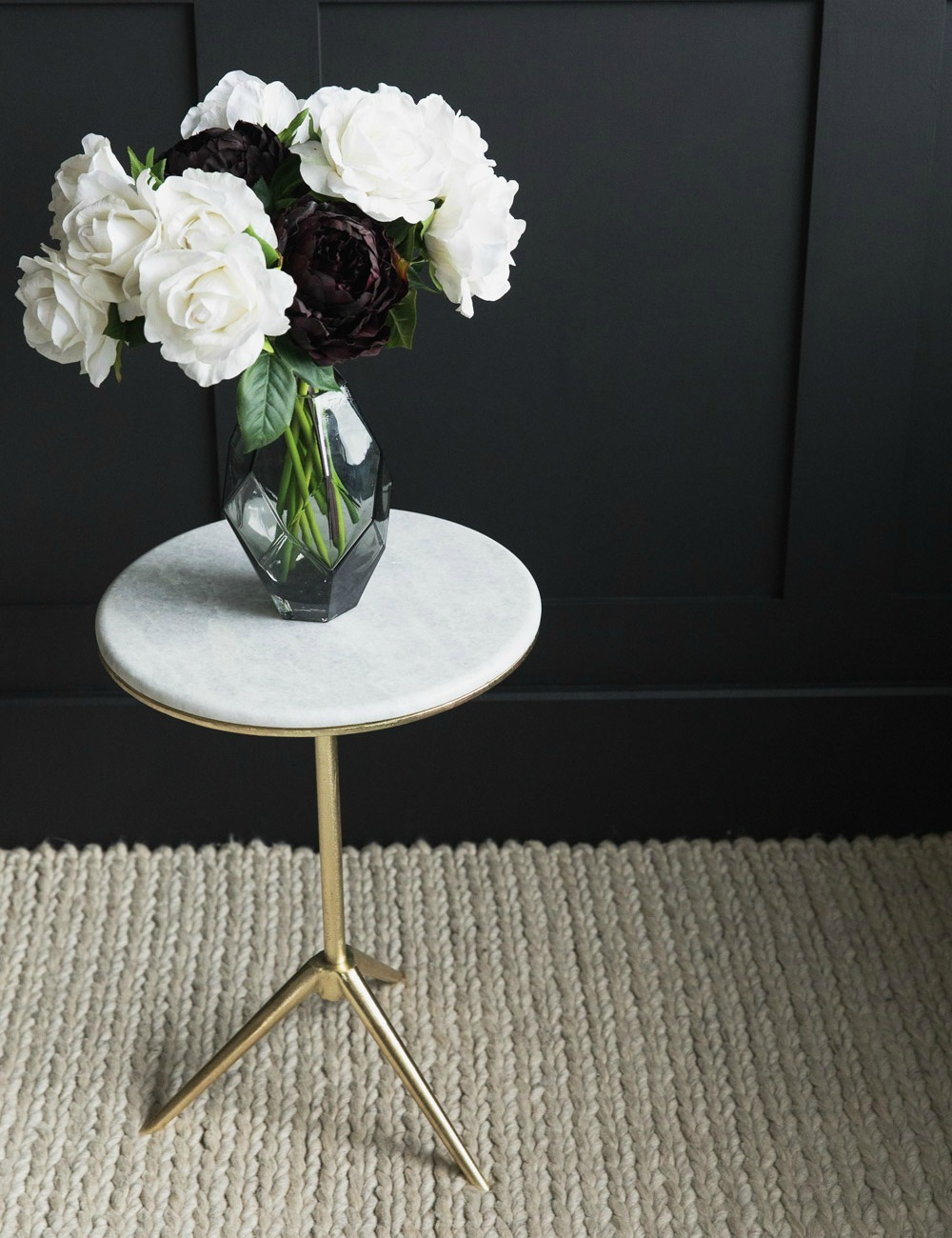 Daisy Marble & Brass Side Table 2