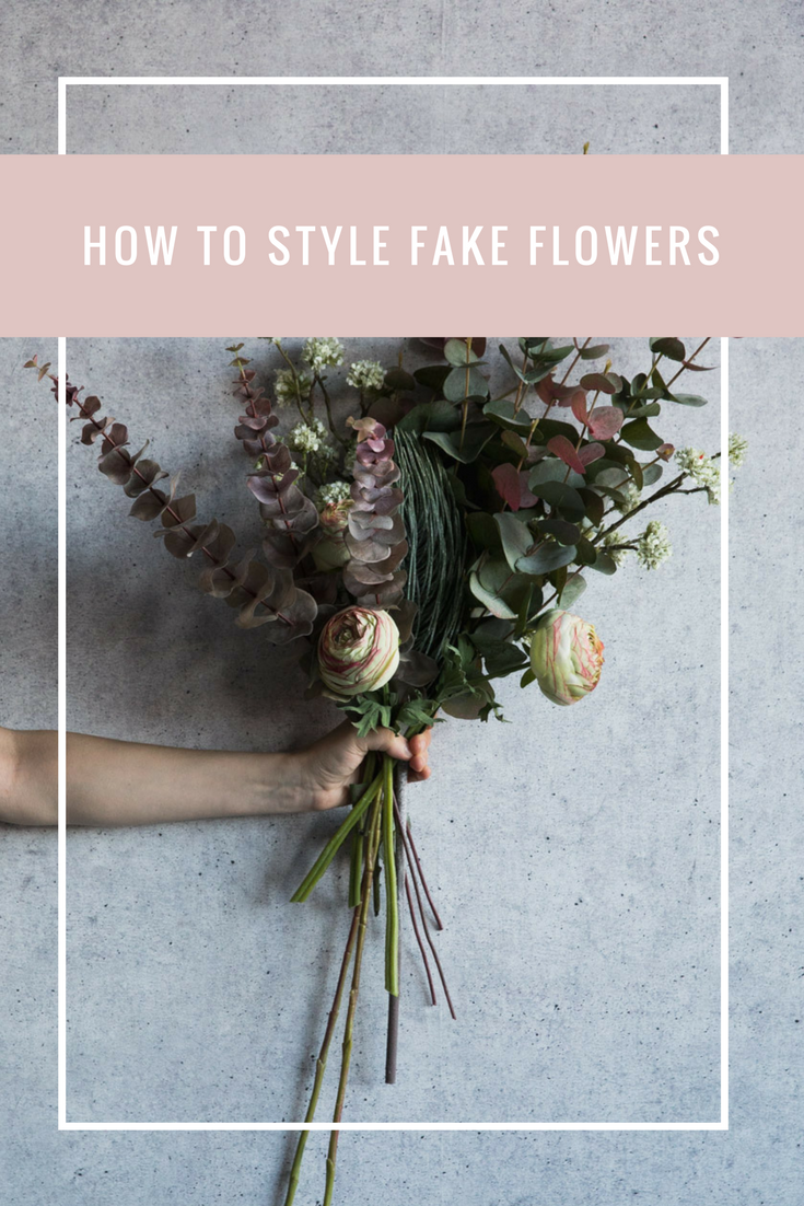 How To Style Fake Flowers Rose And Grey