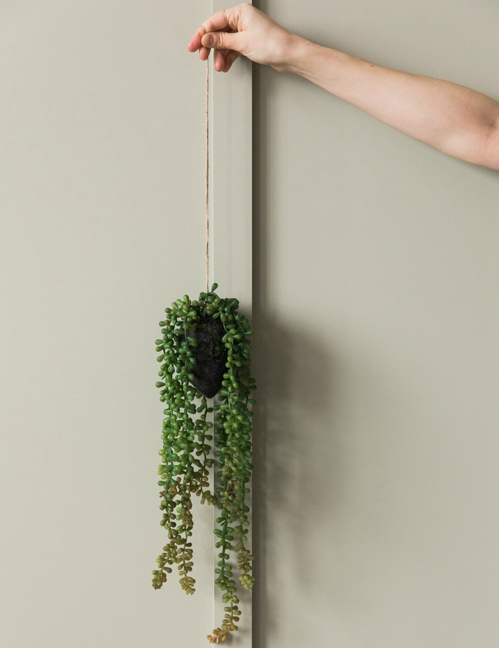 Faux Hanging String of Pearls Plant