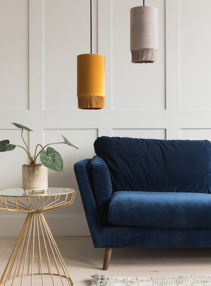 Mustard & Navy Blue Interiors