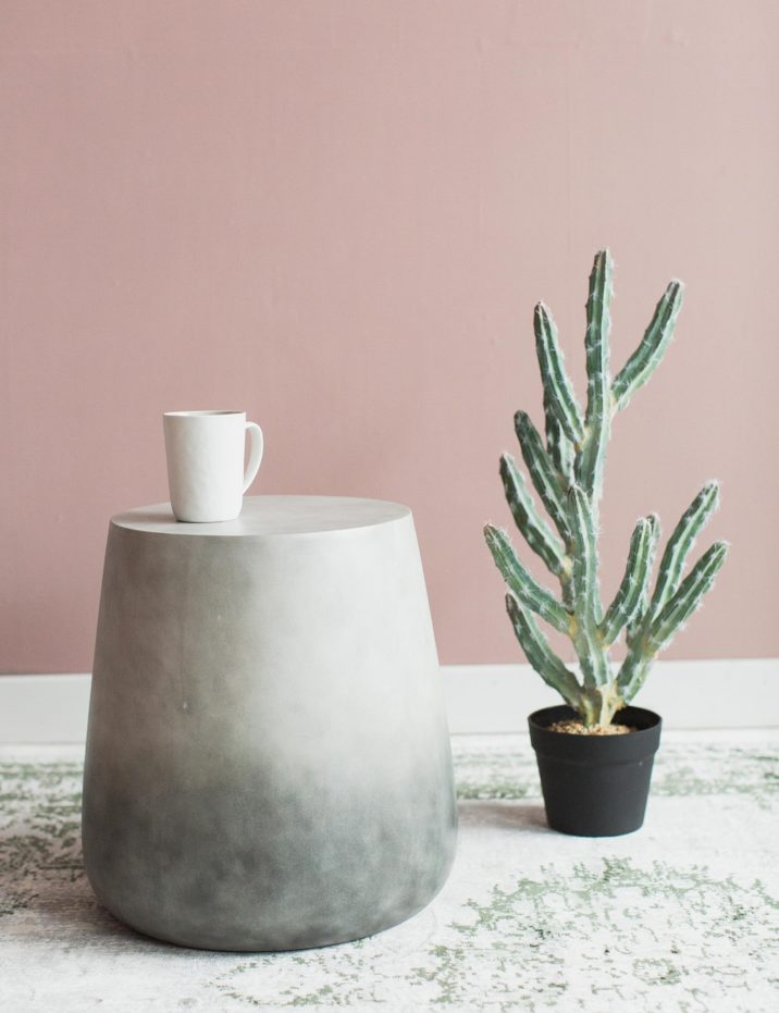 Pink and grey interiors