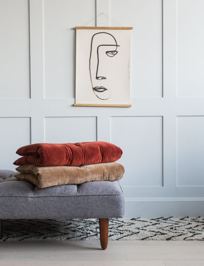 Grey and Terracotta interiors
