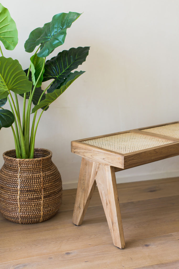 Add Extra Seating with a Cane Bench