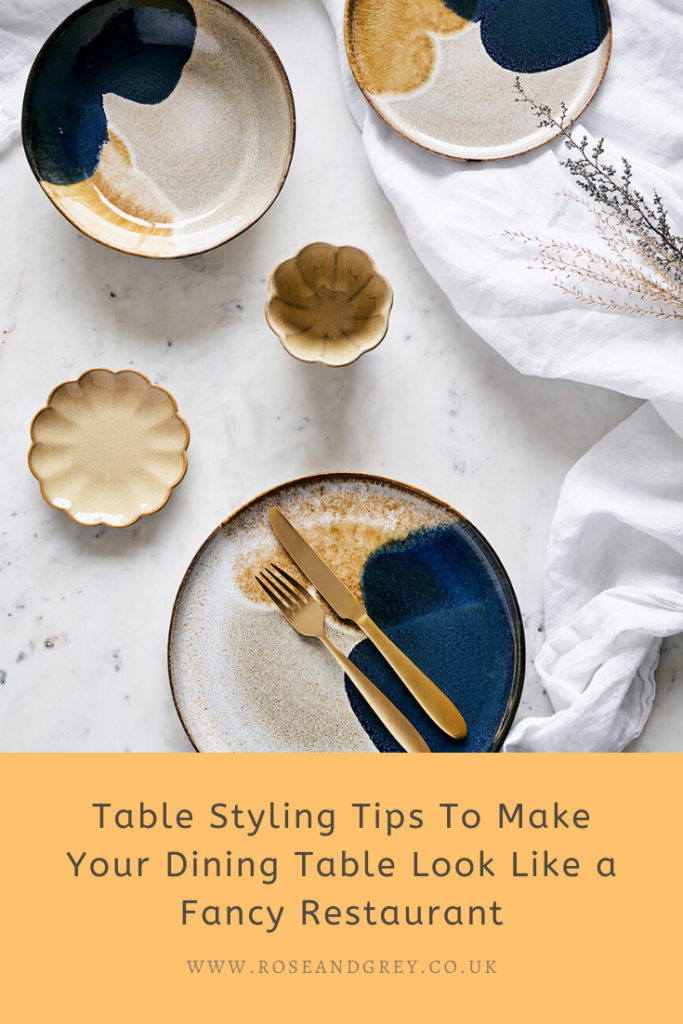 Table Styling Tips To Make Your Dining Table Look Like a Fancy Restaurant