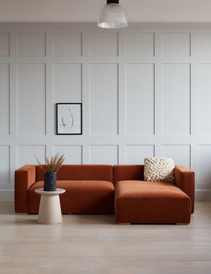 Chorlton Corner Sofa | Rose & Grey