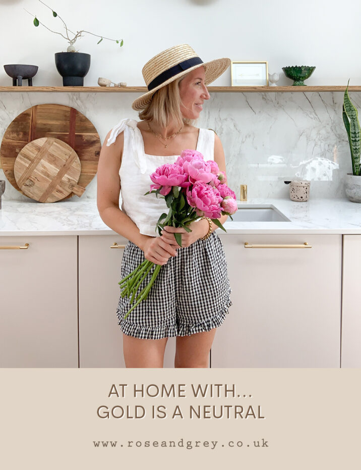 At Home With ... Gold is a Neutral   Rose & Grey